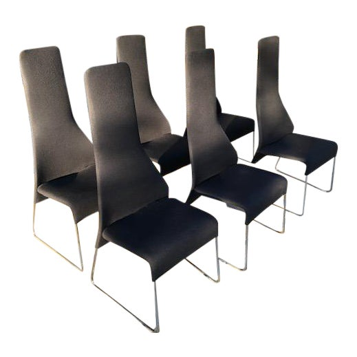 """B&b Italia """"Lazy"""" Chairs - Set of 6 For Sale"""