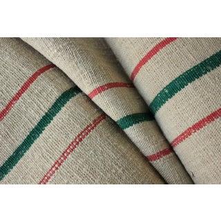 Antique Grain Sack Linen Hemp Fabric For Sale