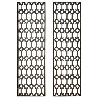 Mid 19th Century British Decorative Iron Panels- a Pair For Sale