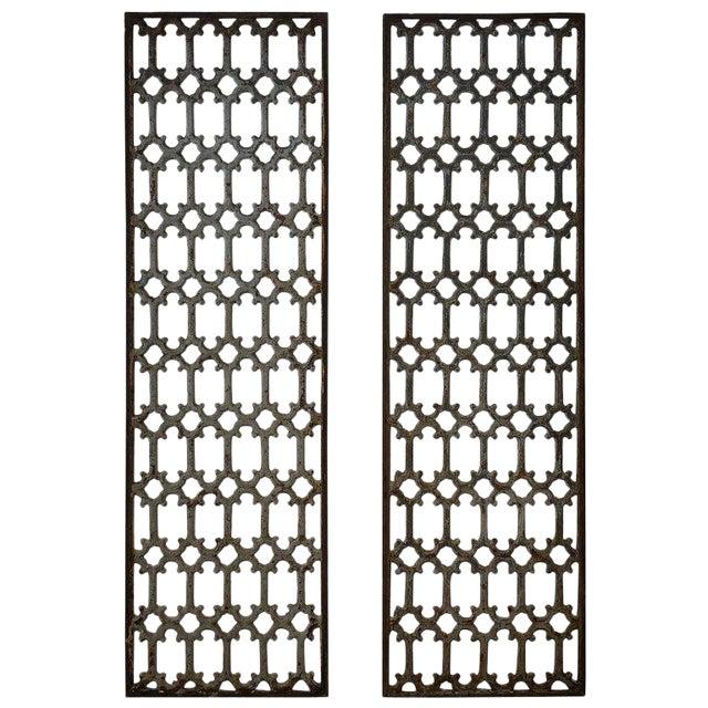 Mid 19th Century British Decorative Iron Panels- a Pair For Sale