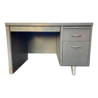 1960s General Fireproofing Company Metal Tanker Desk For Sale