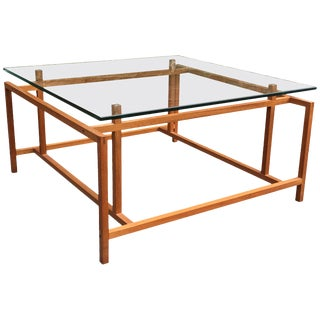 Henning Norgaard Teak and Glass Danish Modern Coffee Table for Comfort For Sale