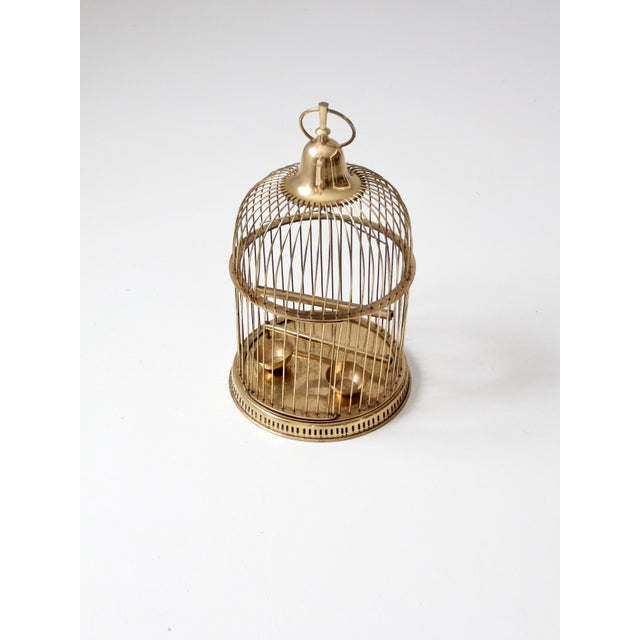 Vintage Brass Bird Cage For Sale - Image 9 of 10