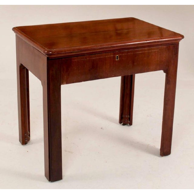 This is a late 18th century Georgian architect's table or desk. This piece is very well constructed and made of Cuban...