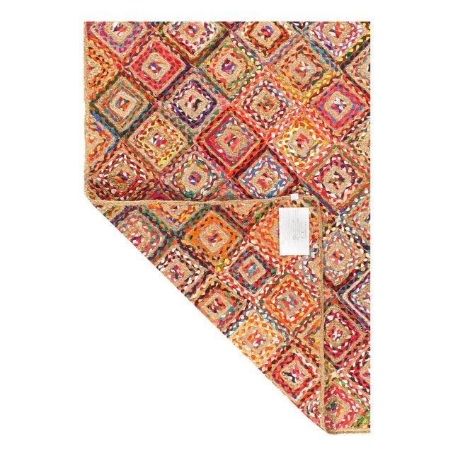 Modern Pasargad Handmade Braided Cotton & Organic Jute Rug - 3' X 5' For Sale - Image 3 of 4
