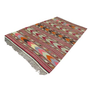 Vintage Kilim Over Size Rug - 7′4″ × 12′6″ For Sale
