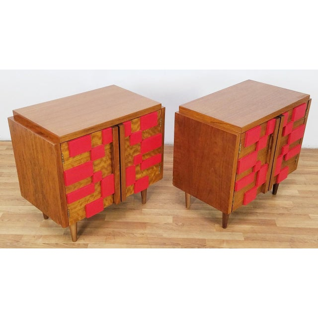 Brutalist 1960s Mid Century Modern Lane End Tables - a Pair For Sale - Image 3 of 13