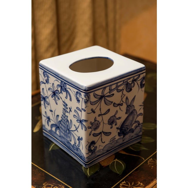 Tissue box cover. This piece would look great in a shabby chic home.