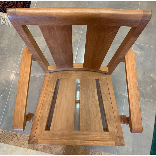 1990s Vintage Sutherland Matisse Teak Dining Chairs- A Pair For Sale - Image 10 of 13
