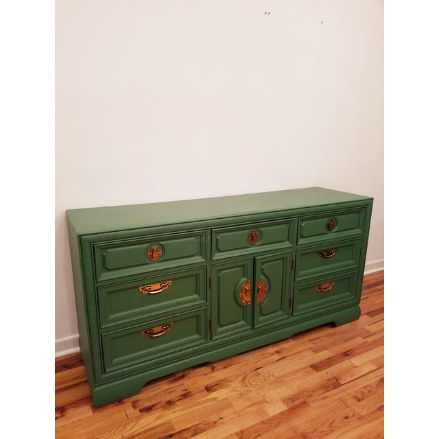 Green Campaign Style Dresser - Image 2 of 6