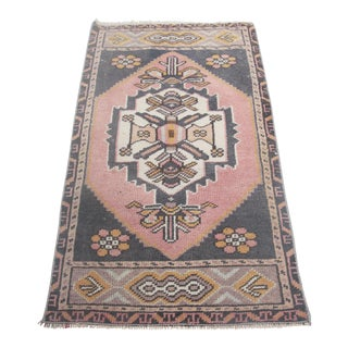 "1960s Turkish Pure Wool Carpet - 43"" X 21"" For Sale"