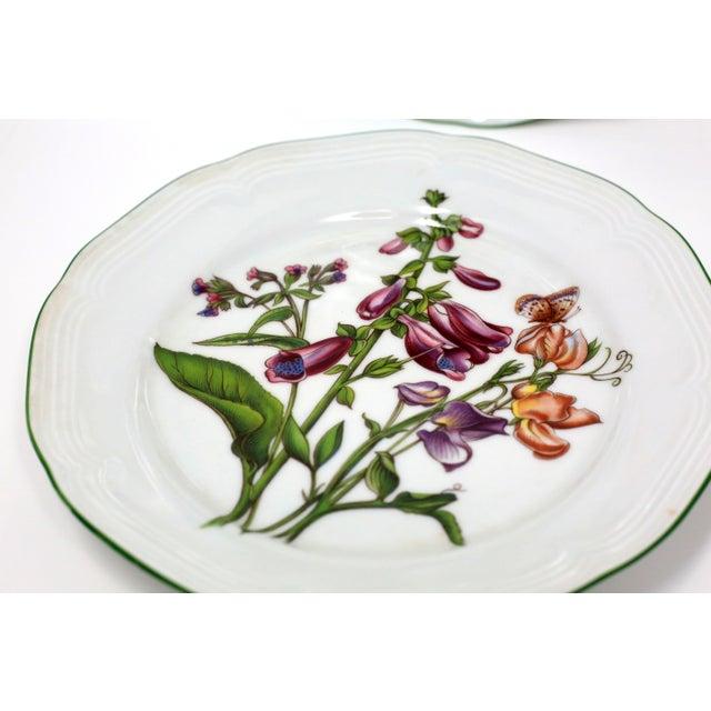 Ceramic Vintage Bavarian China Floral Salad Plates by Bareuther - Set of 6 For Sale - Image 7 of 12