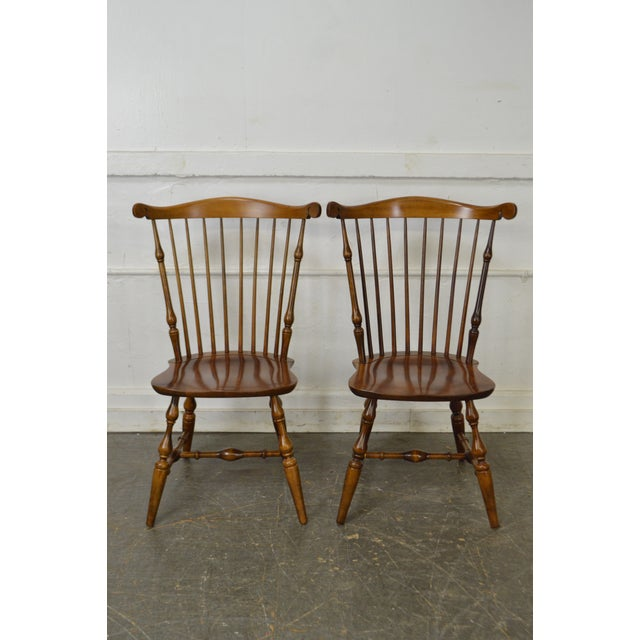 Nichols & Stone Set of 6 Windsor Style Dining Chairs - Image 5 of 10