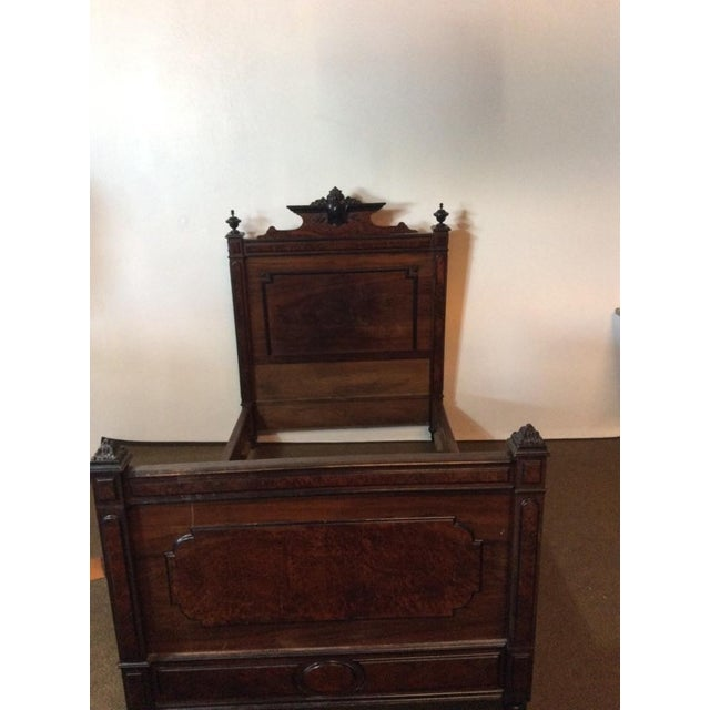 Edwardian Hardwood Full Size Vintage Bed - Image 3 of 7