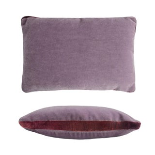 Purple/Amethyst Mohair Pillow