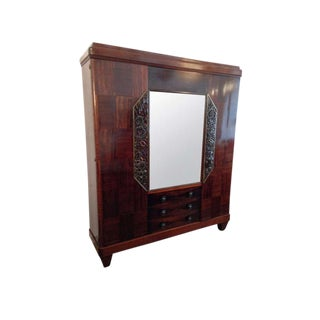 1930s Louis Majorelle French Art Deco Cabinet For Sale