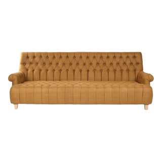Drove Sofa in Umber Raw Silk For Sale