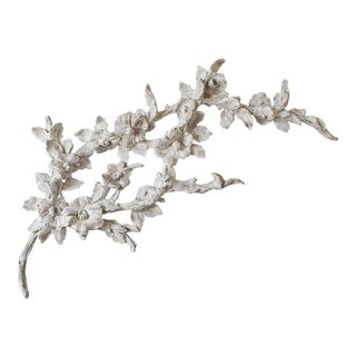Grand Spray of Vintage French Painted Flowering Branches circa 1970 For Sale