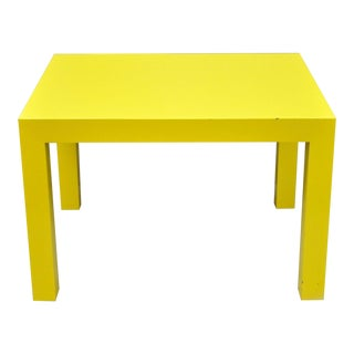 1970s Contemporary Thayer Coggin Milo Baughman Yellow Parsons End Table For Sale
