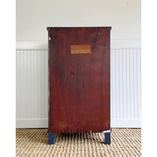 Antique Empire Painted Cabinet For Sale - Image 9 of 11