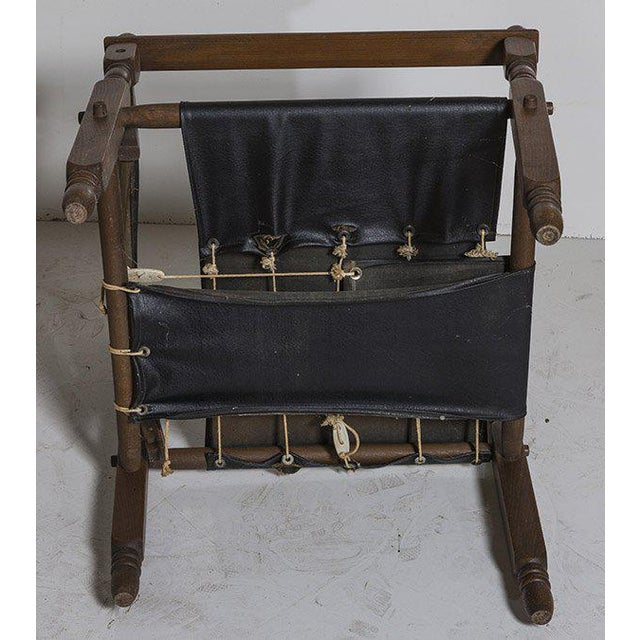 Oak Danish Modern Arne Norell Style Safari Chairs, a Pair For Sale - Image 7 of 9