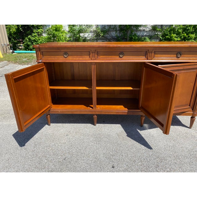 French French Louis XVI Style Fruitwood Sideboard For Sale - Image 3 of 11