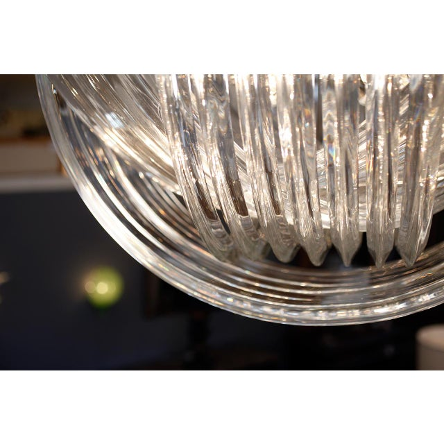 "Silver Customizable Murano Glass ""Curve"" Chandelier For Sale - Image 8 of 10"