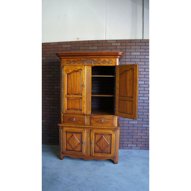 Brown 20th Century French Country Armoire For Sale - Image 8 of 11