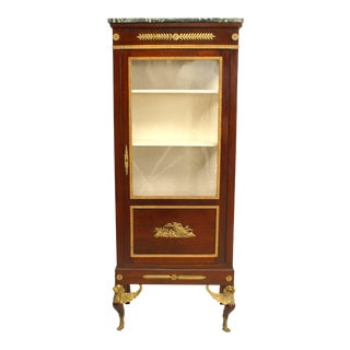 French Empire Style Display/Vitrine Cabinet For Sale