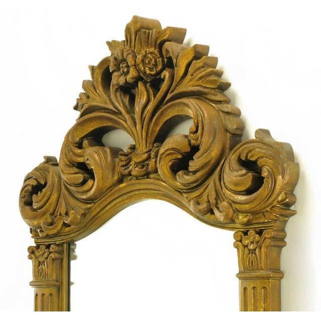 """Two 55"""" Tall Rococo Style Gilt Composition Mirrors For Sale In Chicago - Image 6 of 7"""