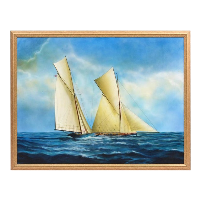 """""""New Bounty"""" Contemporary Nautical Painting by Argentine Artist Gabriel Duarte For Sale"""