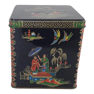 Vintage Asian Inspired Tea Bin For Sale