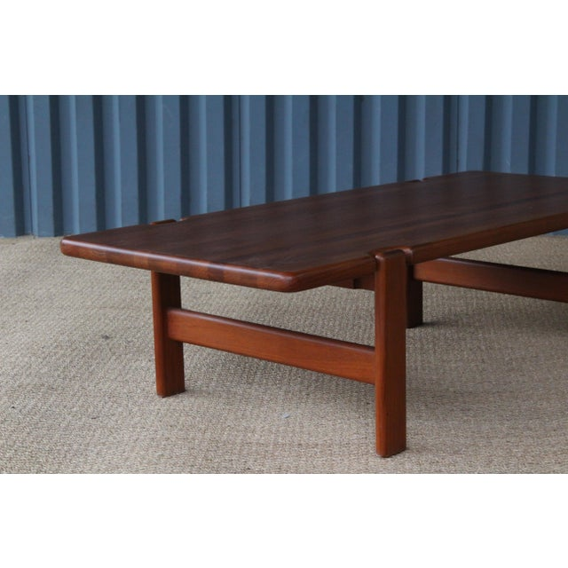 Danish Modern Solid Teak Coffee Table, Denmark, 1960s For Sale - Image 4 of 9