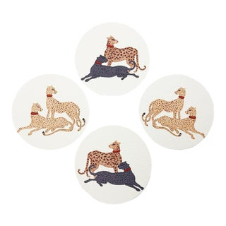 Big Cats by Willa Heart Tablemats - Set of 4 For Sale