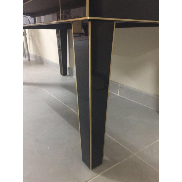 Gold Chest of Drawers in Black Mirror With Ivory Glass Handle For Sale - Image 8 of 9