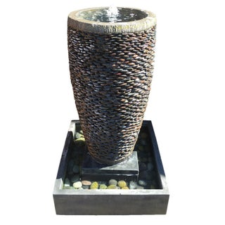 River Pebble Fountain For Sale