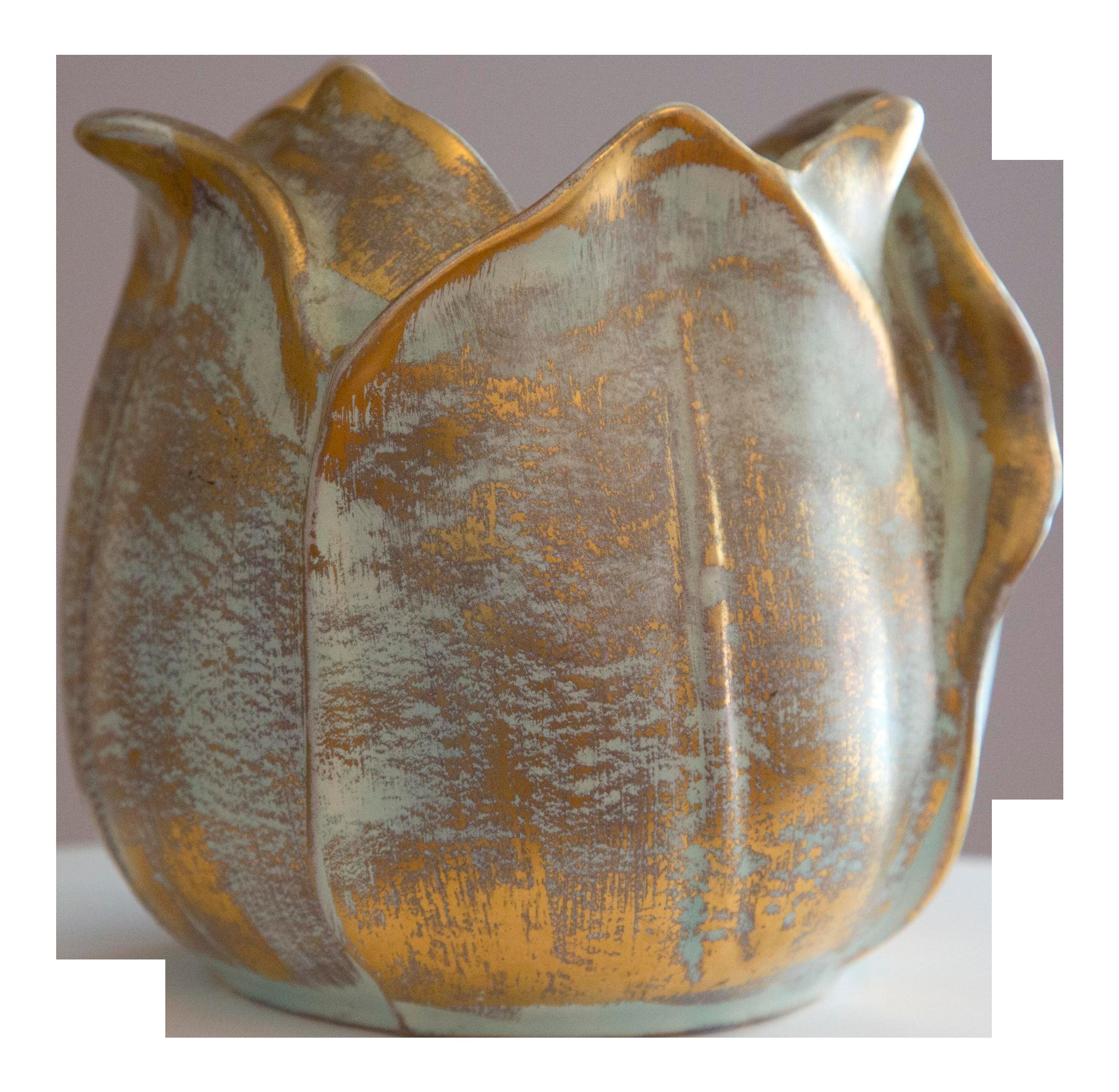 225 & Stangl Mid Century Pottery Flower Shape Vase