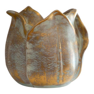 Stangl Mid Century Pottery Flower Shape Vase For Sale