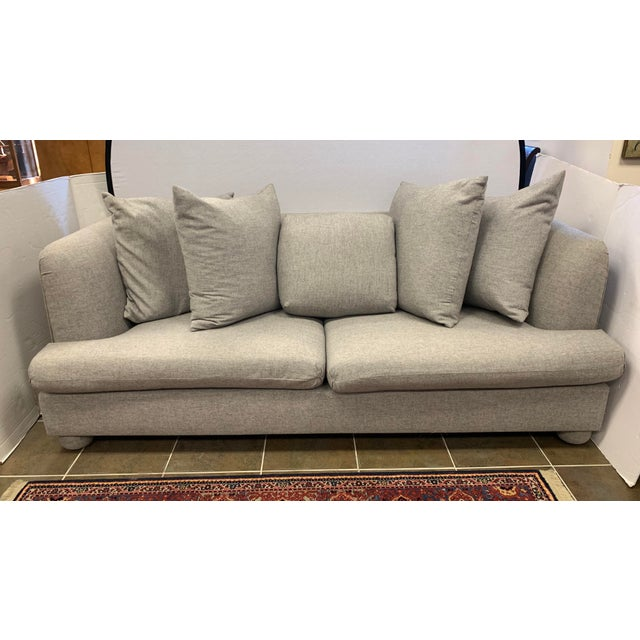 John Hutton for Donghia Gray Sofa For Sale - Image 9 of 9