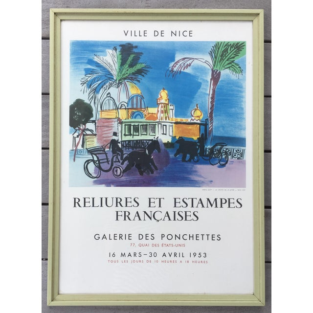 Vintage 1950s French Exhibition Poster by Raoul Dufy For Sale - Image 10 of 10