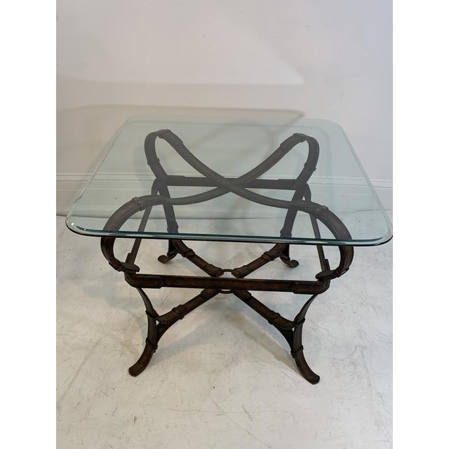 Hermès Hermes Equestrian Iron Strap Side Table For Sale - Image 4 of 13