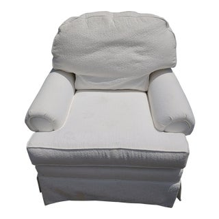 Contemporary White Club Chair For Sale