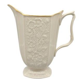Vintage Ivory & 24k Gold Lenox Pitcher Vase