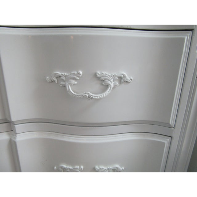 Vintage French Glass Top Chest-A Pair For Sale In West Palm - Image 6 of 9