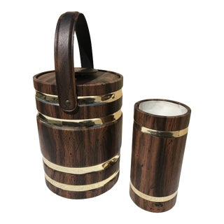 Vintage 1960s Mid-Century Modern Ice Bucket and Wine Cooler - Set of 2 For Sale
