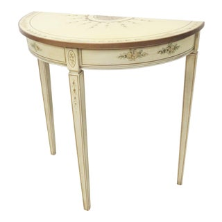 Italian Hand Painted Console Table For Sale