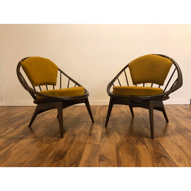 Ib Kofod Larsen for Selig Mid-Century Peacock Lounge Chairs - a Pair For Sale - Image 13 of 13