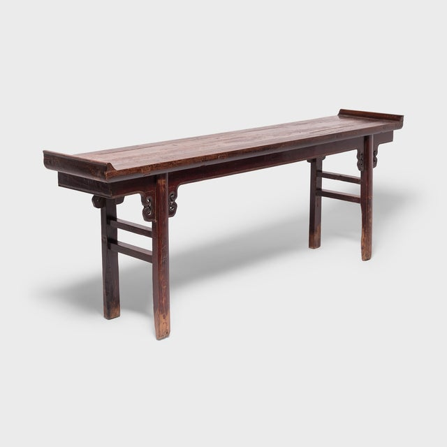 Wood Lacquered Altar With Double Ear Spandrels For Sale - Image 7 of 7