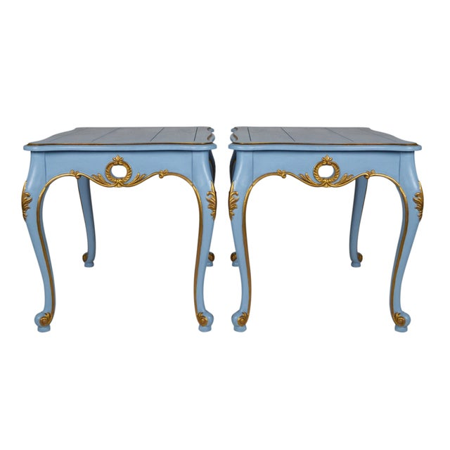 French-Style Side Tables - Pair - Image 1 of 4