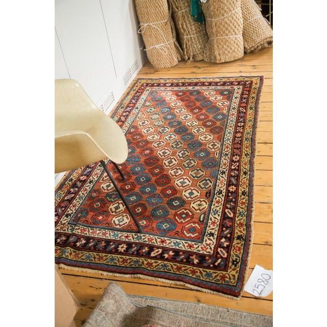 "Textile Antique Caucasian Rug - 3'9"" X 6'11"" For Sale - Image 7 of 9"